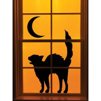 unusual halloween party ideas - Window Clings Halloween