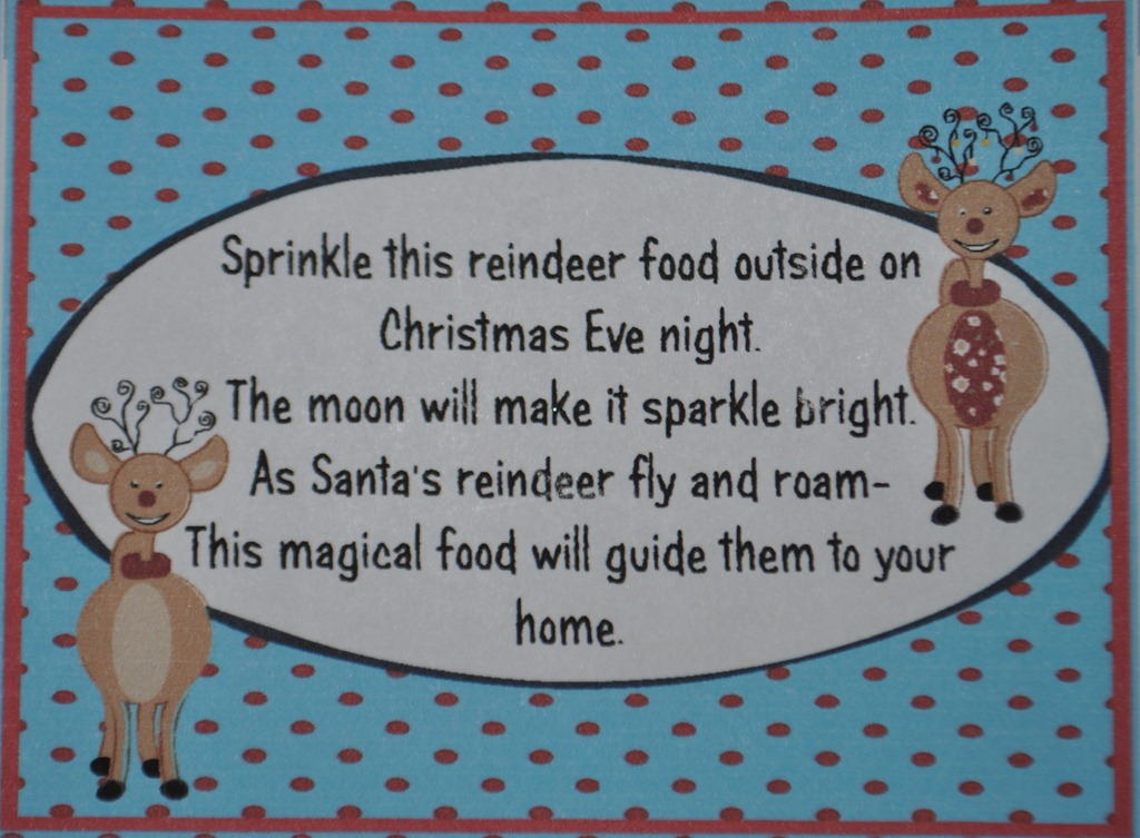 Package Magic Reindeer food in small food storage bags or holiday gift ...
