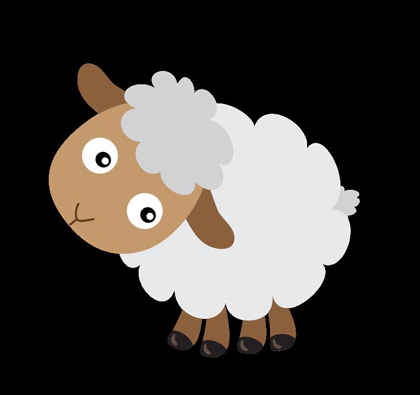 Cute Cartoon Baby Lamb | Black Models Picture