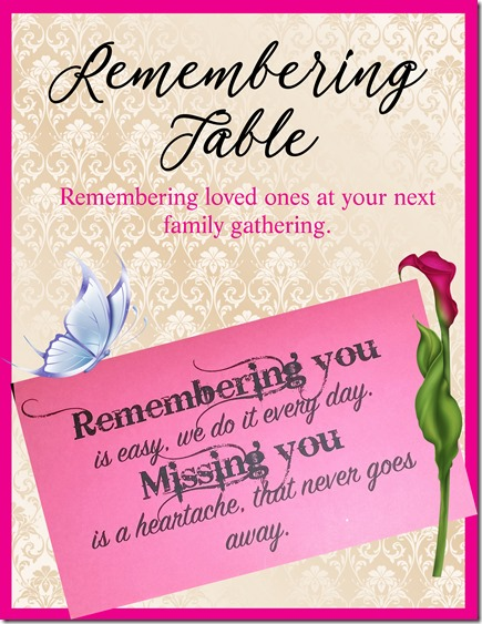 remembering table