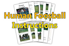 human foosball instructions